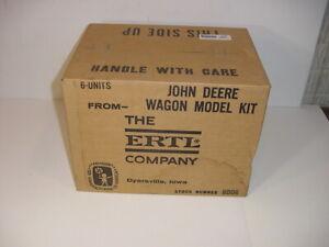 1/16 Vintage Case of 6 John Deere Barge Wagon Model Kits by ERTL NIB! Unopened!