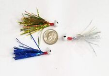 3  Hand Tied 1/16 oz Jigs Crappie Gills Trout Bass Holofoil Panfish Snacks Lure