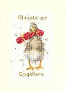Bothy Threads Christmas Quakers Counted Cross Stitch Card Kit by Hannah Dale
