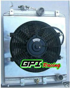 28MM IN/OUT PIPE FOR HONDA Civic EK EG D15 D16 ALLOY RADIATOR+FAN SHROUD 92-00