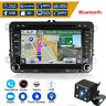 7'' Double DIN Car Stereo DVD Player Radio GPS SAT NAV+Camera For VW Passat Golf
