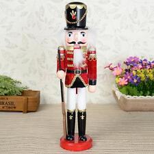 "Christmas Nutcracker Soldier 11.8"" Vintage Wooden Nutcracker Nut Cracker Toy"
