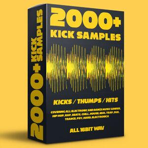 2000+ Kick Drum Samples (Hip Hop, House, EDM, Trap, Dance, Trance, AKAI, MPC)