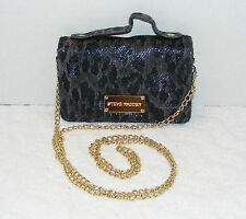STEVE MADDEN CROSS BODY WALLET ON A CHAIN REPTILE EMBOSSED FAUX LEATHER EUC