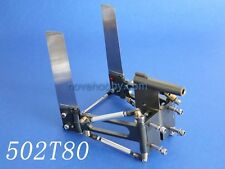 """CNC Aluminum Dual Rudder 152mm length with strut 6.35mm 1/4"""" shaft for rc boat"""