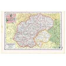 Antique Map 1920 - Orange Free State, South Africa inc plan of Bloemfontein