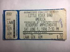 Little River Band America 1996 Ticket Stub Riverport St.Louis MO 6/1/96 Vintage