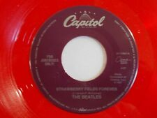 "Beatles-1994 Capitol/CEMA Red Vinyl Jukebox ""Strawberry Fields Forever"" 45-NM"