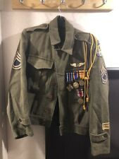 WWII Military Jacket & Metals From EDGAR MITCHELL ESTATE