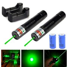 2Pc 600Miles Beam Green Laser Pointer Lazer Pen 532nm+16340 Battery&Charger