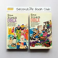 A CHILD'S BIBLE ~ OLD TESTAMENT & NEW TESTAMENT COLOUR ~ Piccolo (Vintage, 1976)