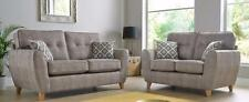 Maya 3+2 Seater Fabric Sofa Suite Upholstered In Wheat