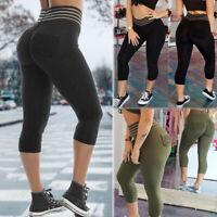 High Waist Yoga Fitness Leggings Pants Women Gym Sports Push Up Jogger Trousers