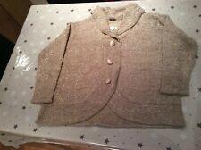 Bnwt Classics Ladies Beige Winter Cardigan Size 28-30