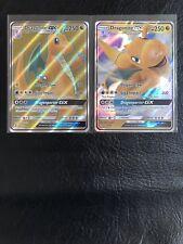 2x LOT Pokemon DRAGON MAJESTY FULL ART DRAGONITE GX 67/70 + HOLO 37/70!!!