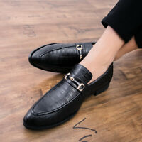 British Mens Dress Wedding Leather Pointy Toe Business Formal Office Work Shoes