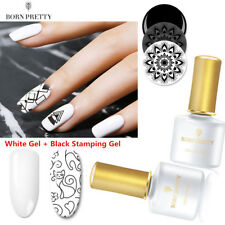 2Pcs/set Nail Art Stamping Gel Polish UV Gel Colors Set for DIY Stamping Plates
