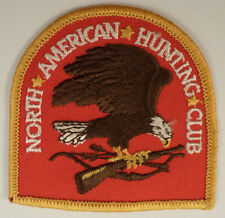 North American Hunting Club  Eagle Symbol Vintage Uniform Patch  Ms-Yl