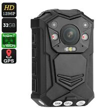 Police Body Worn Camera - 10M Night Vision, 1296p, 140 Degree Lens, CMOS Sensor,