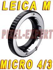 ADAPTER PER LEICA M MICRO 4/3 OLYMPUS PANASONIC ANELLO ADATTATORE RING LENS OM-D