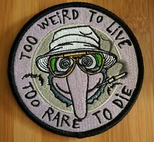 """Too Rare To Live Gonzo Patch Strange Ways JUST Hunter Thompson Muppets  3.5"""""""