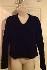 Moda  International Black V-neck Sweater Size S