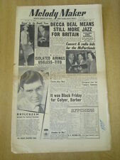 MELODY MAKER 1954 JULY 3 DECCA MCPARTLANDS KEN COLYER TITO BURNS LES BROWN JAZZ