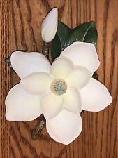 1985 Homco Bone China Magnolia Flower Signed Mizuno