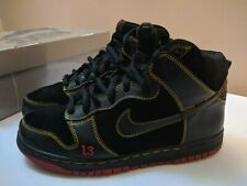 "Nike Dunk High Pro SB ""Unlucky 13"" Black Sneakers 305050-001 Size 8 2004 RARE"