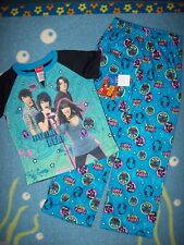 Camp Rock Sleepwear 2pc Pajama Set Girls Size Medium M 8 Feel the Beat NWT