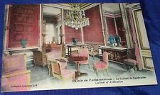 KM207 Vtg Colored Palais de Fontainebleau PostCard x5 Lot