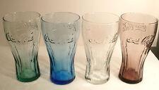 "COMPLETE SET OF FOUR MCDONALDS COCA COLA ""COKE"" GLASSES ""2011"" VERY COOL GLASSES"