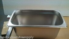 "(Lot Of 6) Third Size 6"" Deep Stainless Steamtable Pans Hot Food Steam Table Pan"