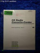 Sony Bedienungsanleitung CFD E70L /E75 /E75L /E77L Cassette Corder (#3649)