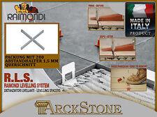 ARCKSTONE RLS RAIMONDI LEVEL LEVELLING SYSTEM 200 Kreuz Distanzscheiben 1,5 mm