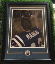 """Peyton Manning Autograph Photo  """"Farewell Colts"""" Photo framed Matted UDA #ED /50"""