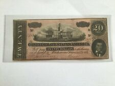 1864 $20 Confederate States Of America Note This was won in drawing at coin show