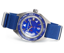 Vostok Komandirskie 650853 /2416 Automatic Russian wrist watch Date Blue New