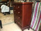 Antique victorian Flame Mahogany,slim,2 over 3,chest of drawers with Knobs Nice