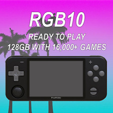 Rgb10 Handheld Console (Black) 128Gb Ready to Play 16,000+ Games - Us Seller