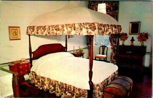 C51-7428, LEWIS BEDROOM, WASHINGTON HOME, MT. VERNON, VA., . POSTCARD.