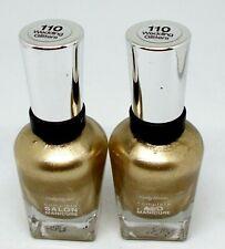 2 SALLY HANSEN Complete Salon Manicure Nail Color Polish WEDDING GLITTERS 110