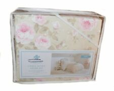 SIMPLY SHABBY CHIC By RACHEL ASHWELL Blossom Beige W/ Pink Floral 2P TWIN DUVET