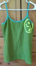 ZUMBA® Wear spaghetti strap tank in Army Green w Lime/Teal accents. Size XXL
