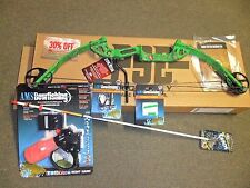 PSE Discovery Bowfishing 30-40# RH GREEN with Fingertings,Rest,Arrow,Retriever
