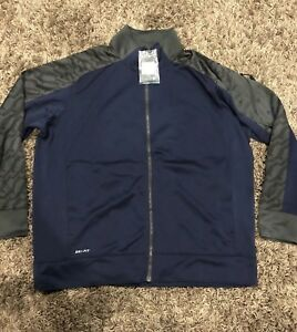 Nike Men's Fly Speed Knit Jacket Navy/Grey 2XL 535694-418 Dri-Fit MRSP 85 PE30