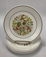 """Set of 8 Corelle Corning INDIAN SUMMER Floral Lunch Salad 8.5"""" Plates AA"""