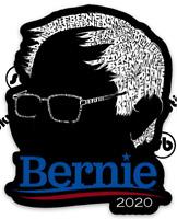 Glossy Black Bernie Sanders For President 2020 Vinyl Sticker Warren Biden Obama