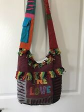 💝 Nepal Hobo Bag, Hippie Cotton, Boho Purses, Nepali handmade Tie dye Love