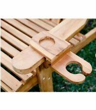LuXeo LUX-7407-TCUP Redondo Adirondack Chair, Teak Wood - Free Ship